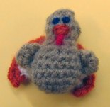 Hand crochet turkey using acrylic yarn by Maryann Walsh (Massachusetts).