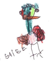 Saige Ruback (Illinois) pen and color pencils