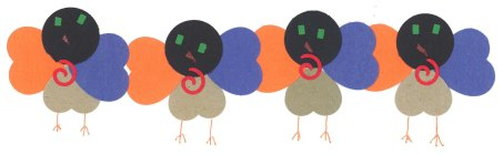 Paper Hearts used to make turkeys by Caden Hubbell, New York.