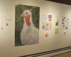 This poster was created from a composite of more than 9,000 turkey photos.