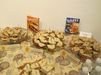 Tofurky donated the makings for some healthy plant-based noshes at the exhibit reception.