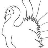 The Davidson's (Texas) created turkeys as a family activity. Jenny Davidson