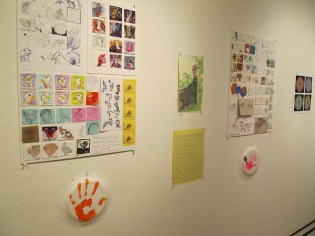 Submissions to the 46millionturkeys project on display at the Harlow Gallery.