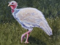 "Happy Thanksgiving 2013 © Cheryl L Miller 22-1/4"" X 30"" Watercolor With Rice Paper"
