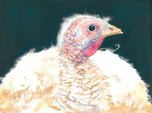 """Happy Thanksgiving 2015 © Cheryl L Miller 12"""" X 16"""" Watercolor With Rice Paper"""