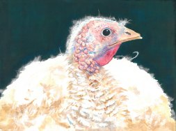 "Happy Thanksgiving 2015 © Cheryl L Miller 12"" X 16"" Watercolor With Rice Paper"